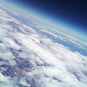 Stratospheric Aerial photo taken from the launced balloon.