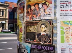 Arts event posters in Adelaide