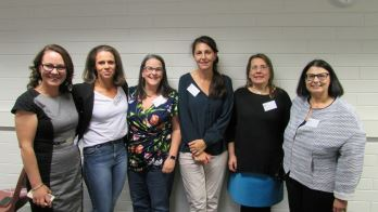 The Advisory Panel members for the National Enterprise for Rural Community Wellbeing (left to right): Dr Bridget Garnham, Sallie Jones (Gippsland Jersey), Lisa Cowan (Agriculture Victoria), Liane Corocher (NSW Dept Primary Industries), Dr Doreen Donovan & A/Prof Lia Bryant