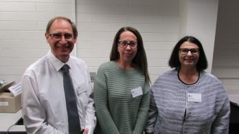 Alan Woodward from Suicide Prevention Australia, Barb Button from the Regional Council of Goyder and A/Professor Lia Bryant, National Enterprise for Rural Community Wellbeing