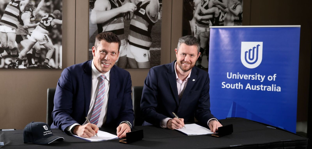 UniSA and Crows partnership signing