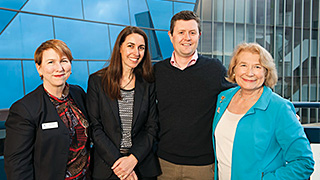 (L-R) UniSA Pro Vice Chancellor (Business and Law), Professor Marie Wilson; ANZ General Manager of Small Business Banking, Kate Gibson; UniSA Vice Chancellor, Professor David Lloyd; and Centre for Business Growth Director, Professor Jana Matthews