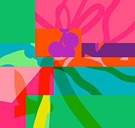 Colourful artwork representing Hedonism -graphics only