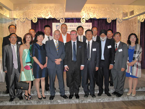 Chancellor Dr Ian Gould AM and Deputy Vice Chancellor Nigel with the Hong Kong Chapter Committee