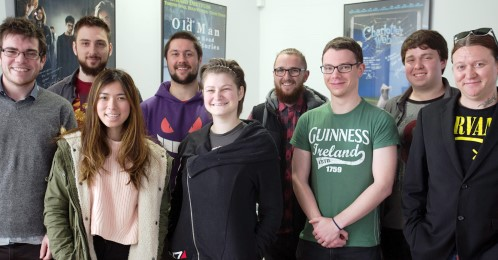 Nine UniSA media Arts students in their first day at Rising Sun Pictures