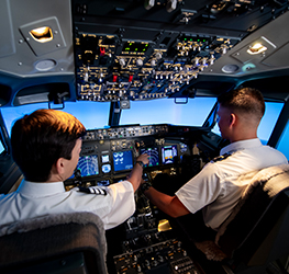 On-campus, industry standard 737 simulator