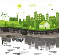 graphic of green urban living
