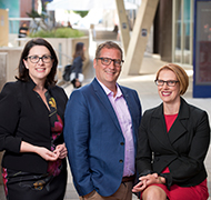 Professor Fiona Arney, Associate Professor Tim Moore and Professor Leah Bromfield.