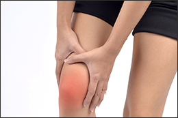 Image of a painful knee joint