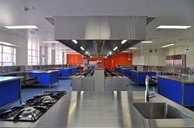 New commercial kitchen at City East with state of the art equipment