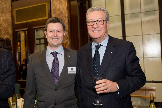Professor David Lloyd with Alexander Downer