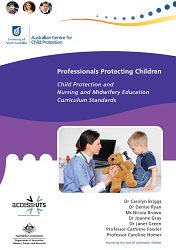 Child Protection and Nursing and Midwifery Education Curriculum Standards front cover