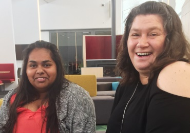 Aboriginal students, Janeth Andrews and Laura Long
