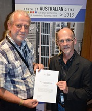 Dr Johannes Pieter presented with the Peter Harrison Memorial Prize for his research
