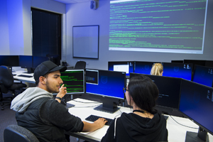 Students working in one of our IT computer labs at Mawson Lakes Campus