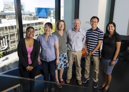 Prof John Hayball and the UniSA research team who have worked to develop a new vaccine platform