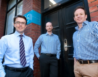 The Myriota team - Dr Alex Grant (CEO), Dr David Haley (CTO), Tom Rayner (Business Development Executive)