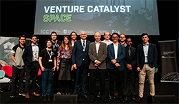 Venture Catalyst Space 2018 cohort with MP David Pisoni, panel, Jasmine Vreudgenburg and Terry Gold.