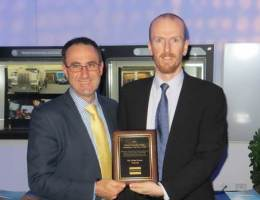 Mr Jeff Kasparian and Dr David Haley receiving the award
