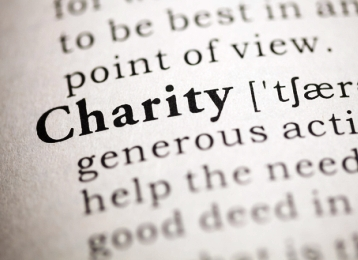 Dictionary entry for the word Charity
