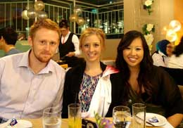 UniSA student Jake Richardson (pictured left) on a study tour to Malaysia in February this year.