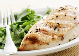 low carb diet meal of chicken and greens