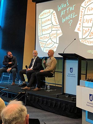 Adelaide Festival of Ideas panel in UniSA Bradley Forum.