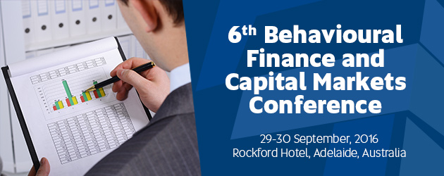 6th Behavioural Finance and Capital Markets Conference Banner