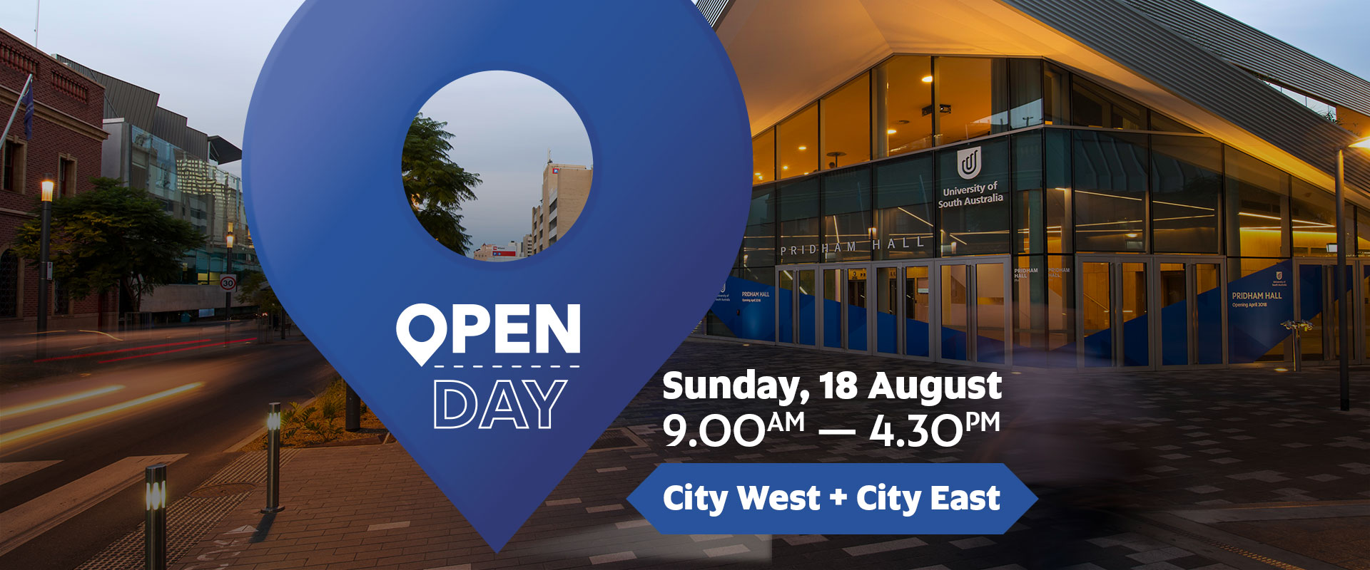 Open Day, Sunday 18 August, City East and City West Campuses