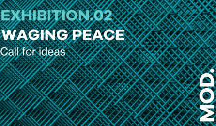 poster for Waging Peace exhibition