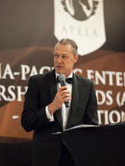 Alan Beattie at the Inaugural Asia-Pacific Enterprise Leadership Awards (APELA) 2013