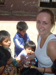 Tessa Henwood-Mitchell at an orphanage in Bolivia