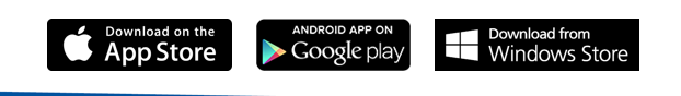 Download on the Apple App Store - Android App on Google play - Download from Windows Store