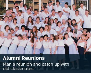Alumni reunions - Plan a reunion and catch up with old classmates