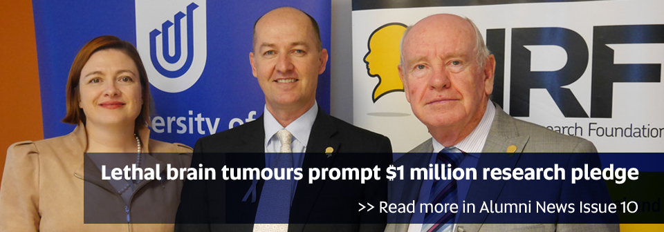 NRF pledge $1 million for brain tumour research - Read more in Alumni News Issue 10