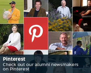 Pinterest - Check out our alumni newsmakers on Pinterest