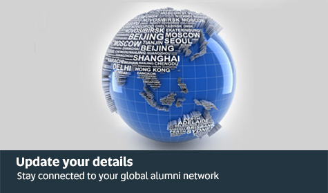 Update your details and stay connected to your global alumni network