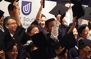 Chinese University of South Australia alumni at graduation ceremony