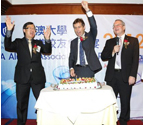 From left, Hong Kong Chapter President, Dr Edward Lam, Vice Chancellor and President, Professor Peter Høj and Chancellor, Dr Ian Gould AM