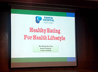 Opening presentation slide for the Healthy Diet and Lifestyle