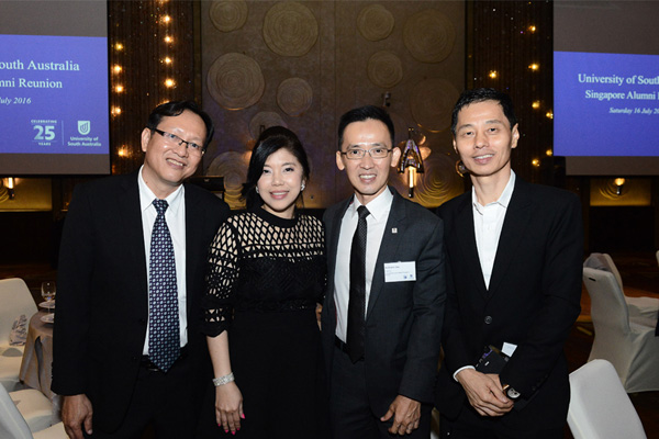 From left: Singapore Chapter Committee President Lawrence Lim and previous President Sherina Ng with previous chapter committee members