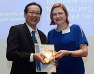 Professor Tanya Monro with Singapore Chapter Committee President Lawrence Lim