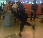 Singapore Alumni Chapter member in [bowling] action