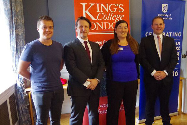 Presenters at the Space Industry Event hosted by the University of South Australia and Kings College London