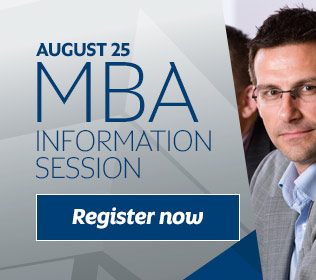 Register for our next MBA info session