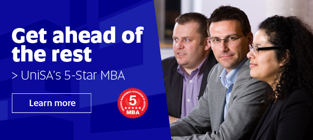 Get ahead of the rest with UniSA's 5-Star MBA program