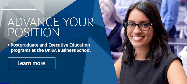 Advance your position - postgraduate and executive education at UniSA