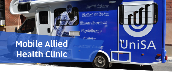 The University of South Australia's Mobile Allied Health Clinic
