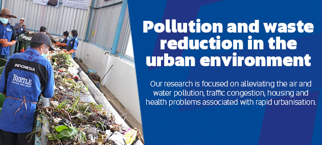 Pollution and waste reduction in the urban environment