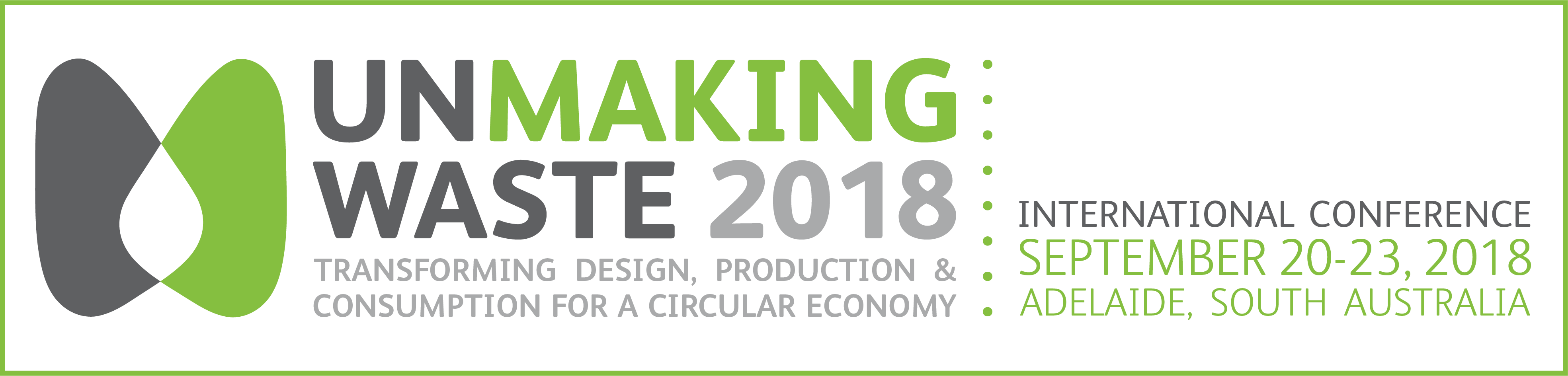Unmaking Waste Conference banner